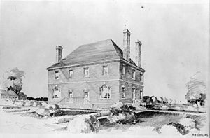 Robert Carter I - Nomini Hall, Carter family plantation in Westmoreland County. Built in 1730 by Robert Carter II on land purchased by Robert Carter I