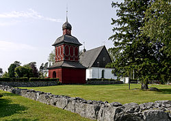 Nordmaling Church in July 2010