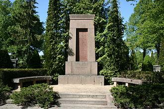 Getå railroad disaster - The mass grave at Norra kyrkogården, a cemetery in Norrköping, Sweden