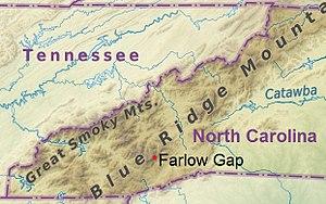 Farlow Gap - Image: North Carolina (location of Farlow Gap)