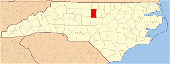 Locator Map of Alamance County, North Carolina...