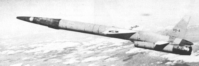 Northrop XQ-4 in flight