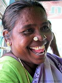 Nose double piercing Both women nostrils Desi Indian girl Tamilnadu Traditional village dress Jpg photo Tamil feature story Etan Doronne Myindiaexperience.jpg