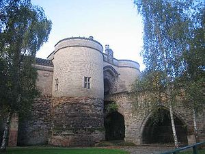 Nottingham Castle - Image: Nottingham Castle Gate 2009