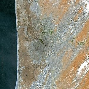 Nouakchott - Nouakchott seen from the Spot Satellite