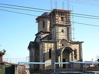 Nova Pazova - The new Orthodox church under construction.