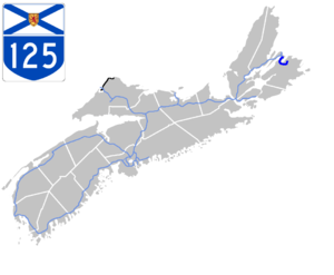 Nova Scotia Highway 125 - Image: Nova Scotia 125 Map