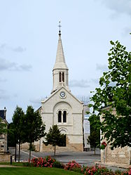 The church in Noyant-de-Touraine