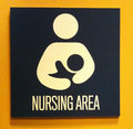 Nursing area sign.png
