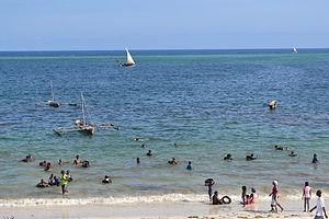 Nyali Beach from the Reef Hotel during high tide in Mombasa, Kenya 31.jpg