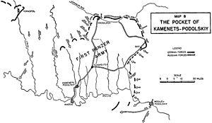 Mapa znázorňujúca sovietsky postup smerom, ktorý viedol k