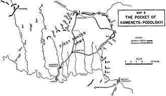 Kamenets-Podolsky pocket - Soviet advances leading to the creation of the pocket.
