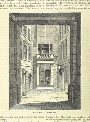 London Stock Exchange Group - The London Stock Exchange, Capel Court, in use from 1802 to 1972