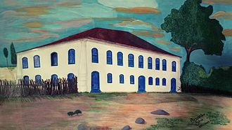 Brumado - The Sobrado do Brejo (painting by Alessandro Silva) was a 19th-century mansion. It was located in the Serra das Éguas in Brumado. It was the residence of the gentlemen colonels (the lords of Sobrado do Brejo). Today, it belongs to Magnesita.