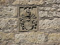 Obersontheim, Herrenmühle, Blick nach NE auf limpurgische Wappentafel von 1557.JPG