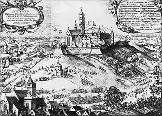 Siege of Jasna Góra - Defence of Jasna Góra, engraving reproduction.