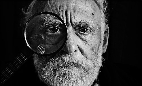 Old man with a beard, Batumi, Georgia