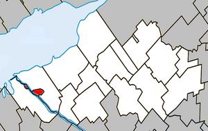 Odanak - Image: Odanak Quebec location diagram