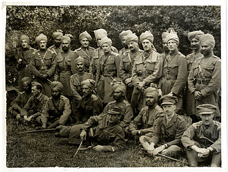 4th Cavalry (India) - British and Indian officers of the 4th Cavalry in Belgium in 1915