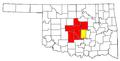 Oklahoma City Metropolitan Area and Oklahoma City-Shawnee CSA.png