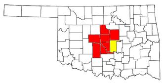 Oklahoma City metropolitan area - Image: Oklahoma City Metropolitan Area and Oklahoma City Shawnee CSA