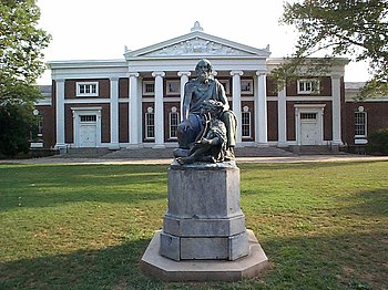 Homer statue in front of Old Cabell Hall at th...