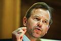 Ole Petter Ottersen, professor vid universitetet i Oslo, talar vid oppet mote om innovation och forskning.jpg