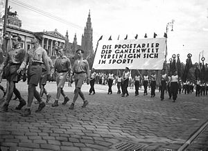 International Workers' Olympiads - Opening march of the 1931 Workers' Olympiad in Vienna.