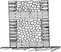 Opus reticulatum - coupe transversale.png