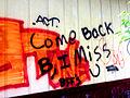 Orange graffiti on Axsom's Short Stop.jpg