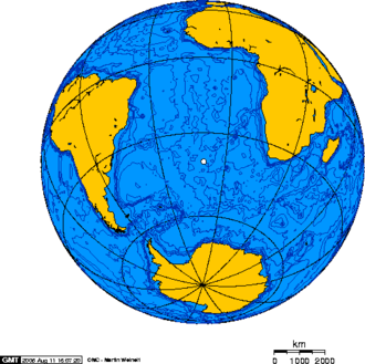 Gonçalo Álvares - Orthographic projection over Gough Island