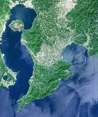 Ōsumi Peninsula - Satellite image of Ōsumi Peninsula