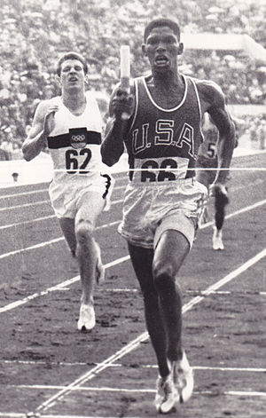 Otis Davis - Davis vs. Carl Kaufmann in the 4×400 m Olympic final in 1960.