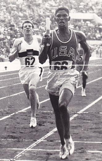 Otis Davis - Davis vs. Carl Kaufmann in the 4×400 m Olympic final in 1960.