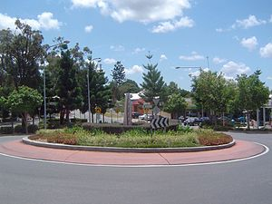 Oxley, Queensland - Roundabout at Oxley central, 2009