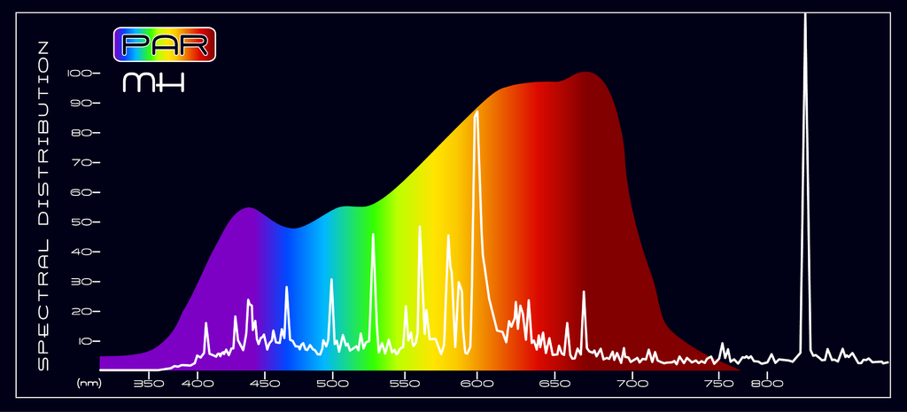 PAR Metal Halide Spectral Comparison