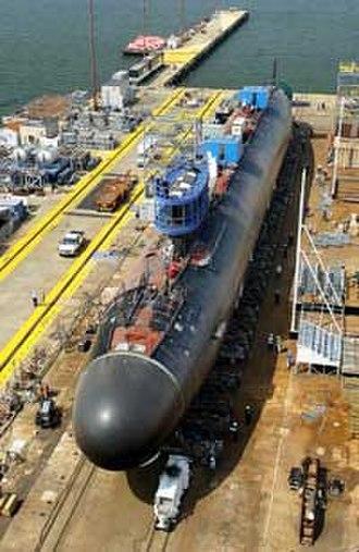 USS Texas (SSN-775) - Texas under construction.