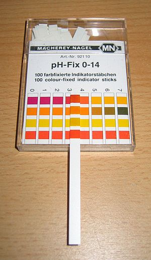 PH indicator - pH measurement with indicator paper