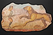 Painting from the Amphitheatre. Hunter with lioness - Google Art Project.jpg