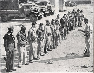 Operation Yoav - Palmach (Negev brigade) soldiers are instructed before the operation. 1948