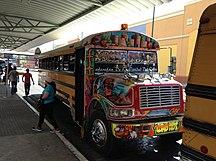 巴拿马-历史-Panama City red devil bus 2013