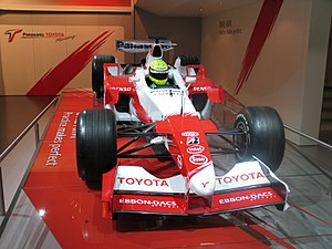 Panasonic Toyota 2002 TF102 F1 Racing Car at British International Motor Show 2006.jpg