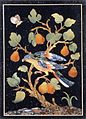 Panel with a Parrot on a Pear Tree (pietre dure, 17 c.).jpg