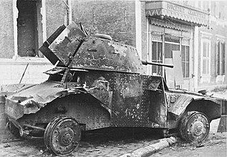 Panhard 178 - A Panhard 178 destroyed in 1940
