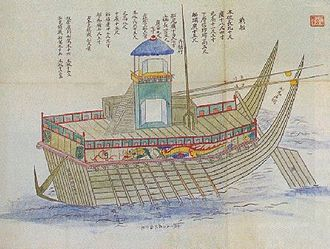 Japanese invasions of Korea (1592–1598) - An old painting of a Korean panokseon
