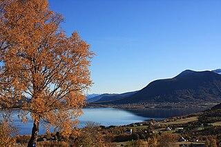 Fiksdal Village in Western Norway, Norway