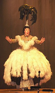Pantomime dame stock character; pantomime portrayal of female characters by male actors in drag