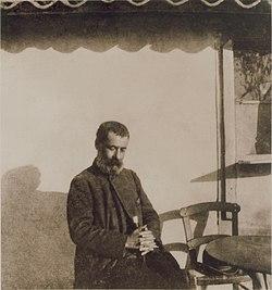 Ο Αλέξανδρος Παπαδιαμάντης στη Δεξαμενή το 1906.