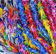 Every day more cranes arrive at the memorial from children all over the world in the hope for peace.