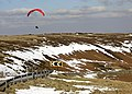 Para-gliding on Holme Moss - geograph.org.uk - 1755154.jpg